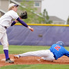 Holy Family's Matt Erb throws to firstbase after forcing out Sheridan's Anthony Maynes during Saturday's 3A district game at Holy Family.<br /> <br /> May 12, 2012 <br /> staff photo/ David R. Jennings