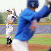 Holy Family's Louis Simpson pitches against Sheridan during Saturday's 3A district game at Holy Family.<br /> <br /> May 12, 2012 <br /> staff photo/ David R. Jennings