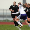 Heidi Hansen, Holy Family sets to score a goal against Valley High during Tuesday's game at Holy Family.<br /> May 11, 2010<br /> Staff photo/ David R. Jennings