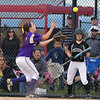 Holy Family's Maeve Donovan catches a foul ball hit by Valley during Saturday's state semi final softball championship game at Aurora Sports Park.<br /> <br /> October 20, 2012<br /> staff photo/ David R. Jennings