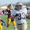Holy Family's Connor Clay makes a touchdown against Windsor during Saturday's first round state 3A playoff game at H. J. Dudley Field in Windsor.<br /> <br /> November 11, 2011<br /> staff photo/ David R. Jennings