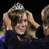 Taylor Balthazor is crowned Holy Family's homecoming queen by Anna Marie Piccone Coffey, the 1959 homecoming queen during halftime of Friday's homecoming game against The Pinnacle at Mike G. Gabriel Stadium.<br /> October 16, 2009<br /> Staff photo/David R. Jennings