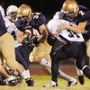Duncan Yost,  Holy Family works his way through the line during Friday's homecoming game against The Pinnacle at Mike G. Gabriel Stadium.<br /> October 16, 2009<br /> Staff photo/David R. Jennings