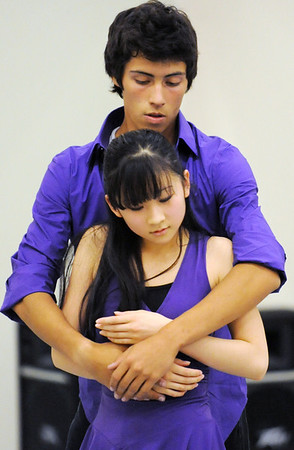 Momo Sakai and Antonio Houck perform one of the dances for the Ballet Nouveau Colorado student company's production of In The Along at the studio.<br /> <br /> May 04, 2012 <br /> staff photo/ David R. Jennings