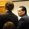 Joseph Abeyta, right, chose not to testify in his murder trial on Thursday.<br /> The defense rested in the trial of Joseph Abeyta for the murder of  William Andrews on October 22, 2009.<br /> Cliff Grassmick / October 22, 2009