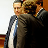 Joseph Abeyta talks to his attorneys on Thursday.<br /> The defense rested in the trial of Joseph Abeyta for the murder of  William Andrews on October 22, 2009.<br /> Cliff Grassmick / October 22, 2009