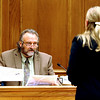 Criminalist Jeff Saviano testifies about photos of the car where William Andrews was shot. Prosecution attorney Katharina Booth is doing the questioning.<br /> The trial of Joseph Abeyta for the murder of  William Andrews continued on October 21, 2009 with the testimony of defense witnesses.<br /> Cliff Grassmick / October 21, 2009