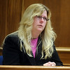 ABEYTA07<br /> Josie Furnie, the sister of William Andrews, describes her brother during Joseph Abeyta's murder trial on Wednesday.<br /> Photo by Marty Caivano/Camera/Oct. 14, 2009