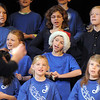 """The Kohl Elementary Holiday Choir sings the song """"Breathing with Beethovan"""" during their performance for seniors conducted by Jayanthi Bunyan at the Audi on Friday.<br /> <br /> December 8, 2011<br /> Staff photo/ David R. Jennings"""