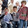 Kohl Elementary fourth graders Jackson Stone, left, Jaden Solano and Zac Owen sip their hot chocolates while a classmate reads a poem during Mrs. Fields' Poetry Cafe class at the 287 and Miramonte Starbucks on Friday.<br /> <br /> December 14, 2012<br /> staff photo/ David R. Jennings