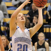 Broomfield's Meagan Prins shoots the ball against Conifer during the Class 4A great eight game at the Colorado School of Mines on Friday.<br /> March 4, 2011<br /> staff photo/David R. Jennings