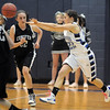 Broomfield's Brittney Zec passes the ball against Conifer during the Class 4A great eight game at the Colorado School of Mines on Friday.<br /> March 4, 2011<br /> staff photo/David R. Jennings