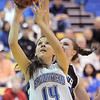 Broomfield's Katie Nehf goes to the basket against Conifer during the Class 4A great eight game at the Colorado School of Mines on Friday.<br /> March 4, 2011<br /> staff photo/David R. Jennings