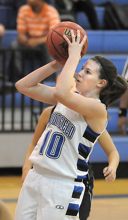 Broomfield's Bre Wilber shoots the ball during Wednesday's game against Thompson Valley at Broomfield High.<br /> December 15, 2010<br /> staff photo/David R. Jennings
