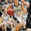 Holy Family's Sarah Talamantes drives the ball against  Jefferson Academy during the 3A Final Four game at Moby Gym in Ft. Collins on Friday.<br /> March 11, 2011<br />  staff photo/David R. Jennings