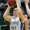 Sarah Talamantes, Holy Family shoots long for three against Jefferson Academy during the 3A Final Four game at Moby Gym in Ft. Collins on Friday.<br /> March 11, 2011<br />  staff photo/David R. Jennings