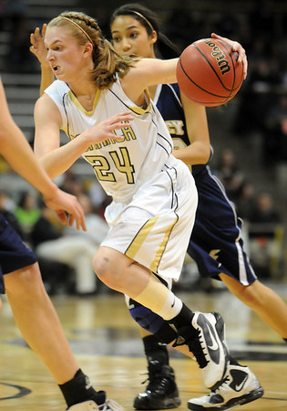 Monarch's Alex Evans goes to the basket against Legacy during the Final Four 5A game at the Coors Event Center in Boulder on Wednesday <br /> <br /> <br /> March 10, 2010<br /> Staff photo/David R. Jennings