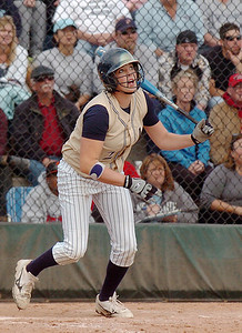 Legacy's Shelby Babcock watches the ball during the state 5A softball game against Ralston Valley on Saturday at the Aurora Sports Park.  October 24, 2009 Staff photo/David R. Jennings