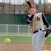 Pitcher Shelby Babcock, Legacy, throws against Ralston Valley during the state 5A championship softball game, Saturday, at the Aurora Sports Park. <br /> <br /> October 24, 2009<br /> Staff photo/David R. Jennings
