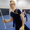 Jeff Martin during warm-up before Legacy's Color Guard performance at the Rocky Mountain Color Guard Association state competition at Legacy  on Saturday.<br /> March 27, 2010<br /> Staff photo/David R. Jennings