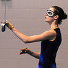 Oriana Meldrum, 14, warms-up catching her sword before Legacy's Color Guard performance at the Rocky Mountain Color Guard Association state competition at Legacy  on Saturday.<br /> <br /> March 27, 2010<br /> Staff photo/David R. Jennings