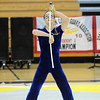 Jeffrey Hargis performs sword maneuvers while dancing  during Legacy's Color Guard performance at the Rocky Mountain Color Guard Association state competition at Legacy  on Saturday.<br /> <br /> March 27, 2010<br /> Staff photo/David R. Jennings