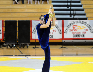 Senior Jeffrey Hargis dances during Legacy's Color Guard performance at the Rocky Mountain Color Guard Association state competition at Legacy  on Saturday.  March 27, 2010 Staff photo/David R. Jennings