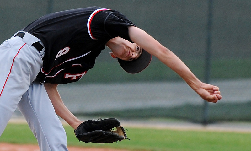 Fairview's Ryan Madden pitches against Legacy during Thursday's game at Legacy.<br /> <br /> April 26, 2012 <br /> staff photo/ David R. Jennings
