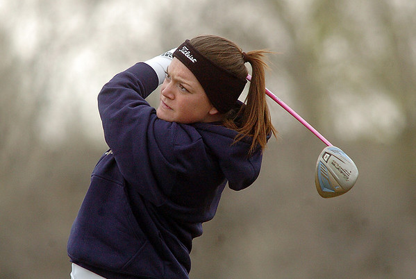 Taylor Evans, Legacy, tees off on the first green during play at Coal Creek Golf Course on Wednesday. <br /> <br /> April 20, 2011<br /> staff photo/David R. Jennings