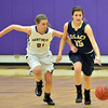 Legacy's Jenna Fenton dribbles down court against Boulder's Mariah Alexander during Thursday's game at Boulder High.<br /> January 10, 2013<br /> staff photo/ David R. Jennings