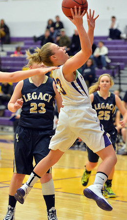 Boulder's Lena Jaycox goes to the basket against Legacy during Thursday's game at Boulder High.<br /> January 10, 2013<br /> staff photo/ David R. Jennings