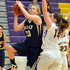 Legacy's Courtney Smith goes to the basket against Boulder's April Dawson during Thursday's game at Boulder High.<br /> January 10, 2013<br /> staff photo/ David R. Jennings