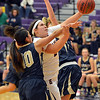 Boulder's Vivi Gregorich goes to the basket against Legacy's Emiley Lopez during Thursday's game at Boulder High.<br /> January 10, 2013<br /> staff photo/ David R. Jennings