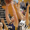 Boulder's Ande Lampert goes to the basket against Legacy's Caitlyn Smith during Friday's game at Legacy.<br /> January 6, 2012<br /> staff photo/ David R. Jennings