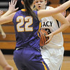Legacy's Caitlyn Smith drives the ball to the basket against Boulder's Cara Aschbacher during Friday's game at Legacy.<br /> January 6, 2012<br /> staff photo/ David R. Jennings