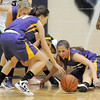 Boulder's Maddie Gates recovers a loose ball during Friday's game against Legacy at Legacy.<br /> January 6, 2012<br /> staff photo/ David R. Jennings