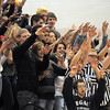 Legacy fans cheer on the girls team during play against Mountain Vista in Friday's 1st round of the state 5A girls playoffs at Legacy.<br /> February 25, 2011<br /> staff photo/David R. Jennings