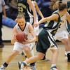 Sara Dunahay, Legacy, steals the ball from Lena Jaycox, Mountain Vista during Friday's 1st round of the state 5A girls playoffs at Legacy.<br /> February 25, 2011<br /> staff photo/David R. Jennings