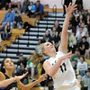 Legacy's Emily Glen goes to the basket past Prairie View's Kiki Heard during Saturday's state 5A playoff game at Legacy.<br /> February 24, 2012 <br /> staff photo/ David R. Jennings