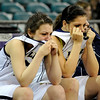 "LegacyVsRegis003.JPG Legacy High School players show their emotion in the final seconds of the game on Friday, March 4, against Regis Jesuit High School during the Colorado High School ""Great 8"" tournament at the Denver Coliseum. Legacy lost the game 59-67. For more photos go to  <a href=""http://www.dailycamera.com"">http://www.dailycamera.com</a><br /> Jeremy Papasso/ Camera"