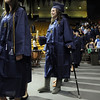 Elizabeth Korodaj joins classmates in the procession for Wednesday's 10th Legacy HIgh School graduation at Coors Events Center at CU.<br /> May 19, 2010<br /> Staff photo/ David R. Jennings