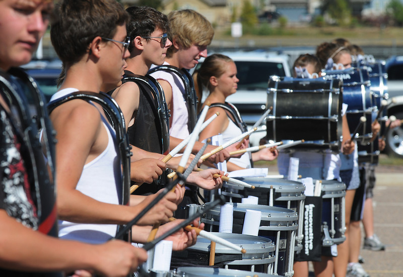 Legacy High School band drumline during Saturday's practice at the school.<br /> <br /> September 25, 2010<br /> staff photo/David R. Jennings
