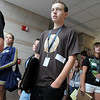Alexander Simpson listens while taking a tour of the school during freshman orientation day at Legacy High School on Wednesday. <br /> <br /> August 19, 2009<br /> staff photo/David R. Jennings