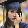 Brittany Leffel cries during a speech by senior Preston Evans during Legacy's graduation ceremony on Monday at Coors Event Center in Boulder.<br /> May 16, 2011<br /> staff photo/David R. Jennings