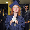 Brianna Di Giacomo smiles while waiting to begin the walk for Legacy's graduation on Monday at Coors Event Center in Boulder.<br /> May 16, 2011<br /> staff photo/David R. Jennings