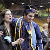 Preston Evans, right, hugs principal Cathy Nolan after Legacy's graduation ceremony on Monday at Coors Event Center in Boulder.<br /> May 16, 2011<br /> staff photo/David R. Jennings