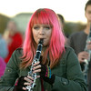 Tara Kessner plays the clarinet while marching with Legacy High Marching Band around the school's track during practice on Thursday.<br /> <br /> November 10, 2011<br /> staff photo/ David R. Jennings