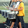 Legacy High Marching Band drummers march in step around the school's track during practice on Thursday.<br /> <br /> November 10, 2011<br /> staff photo/ David R. Jennings