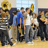 Legacy High Marching Band pause during practice at the school on Tuesday for the band's trip to London.<br /> December 8, 2009<br /> Staff photo/David R. Jennings