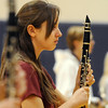 Katie Hansen, clarinet, Legacy High Marching Band marches in the line during practice at the school on Tuesday for the band's trip to London.<br /> December 8, 2009<br /> Staff photo/David R. Jennings
